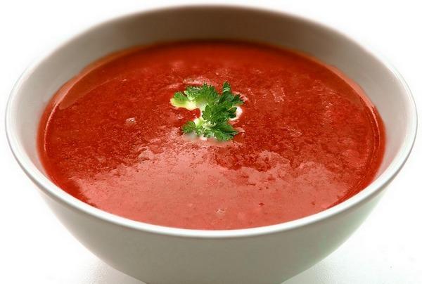 томатный суп с вермишелью