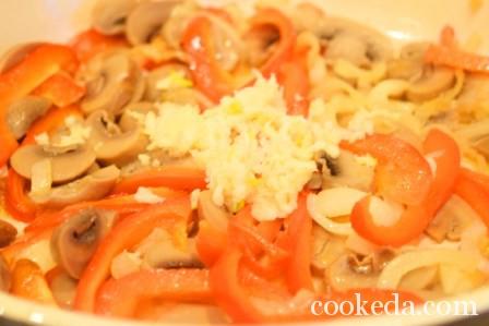 Китайская лапша курицей овощами фото-13