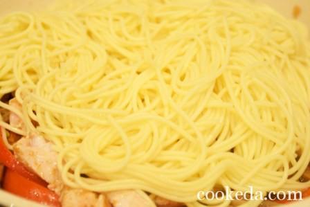 Китайская лапша курицей овощами фото-16