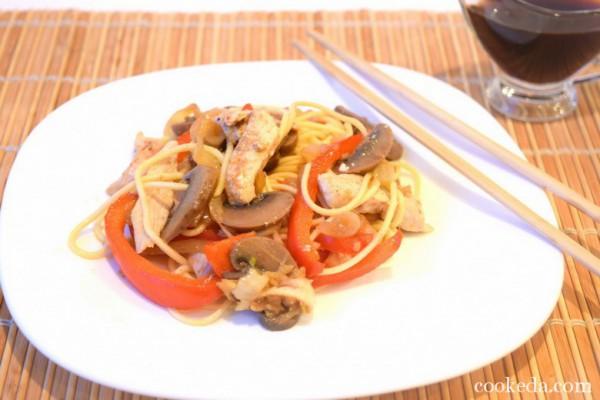 Пошаговый рецепт китайской лапши с