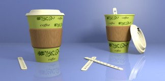 одноразовые картонные стаканчики