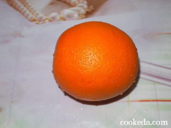 апельсины; сахар; желатин; вода для разведения желатина.-01