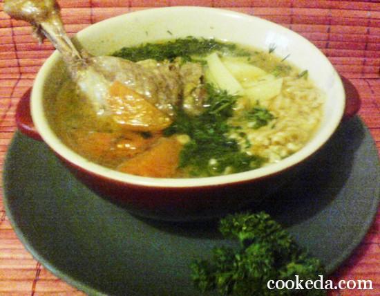 Суп утиный с лапшой фото-06