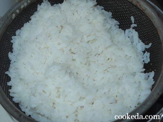 Пирог рыбой рисом фото-04