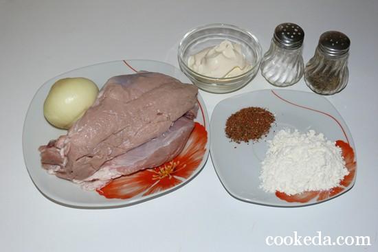 Свинина сметанном соусе фото-02