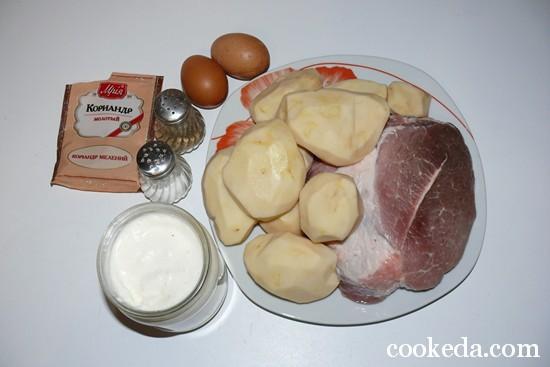 Свинина с картофелем в духовке фото-02