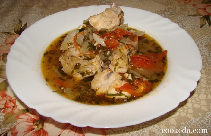 Чахохбили из курицы с овощами