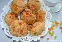 печенье из овсяных хлопьев с орехами и цукатами