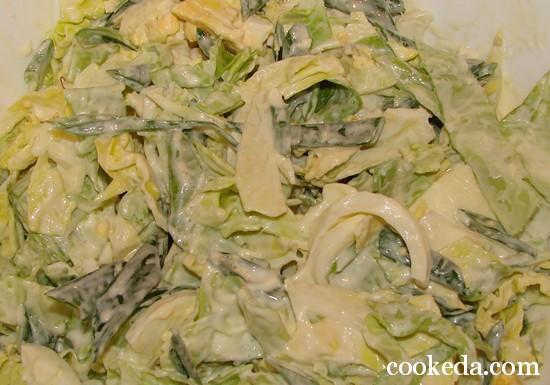 Салат молодой капусты луком яйцом фото-08