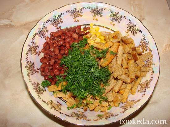 Салат консервированной фасоли фото-06