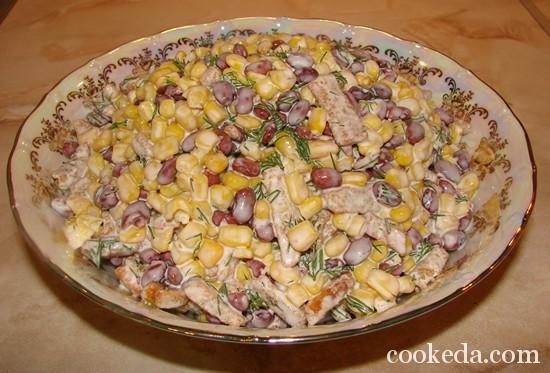 Салат консервированной фасоли фото-07