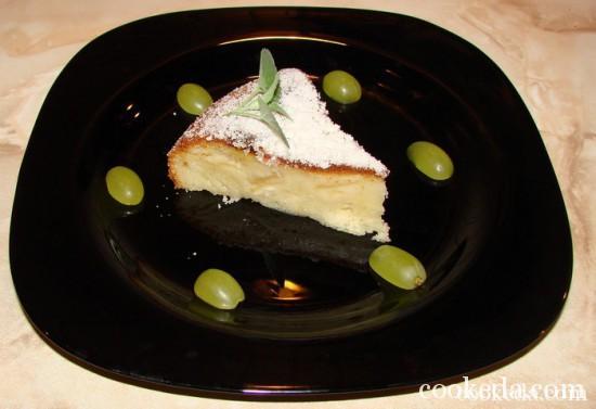 пирог на кефире с яблочной начинкой