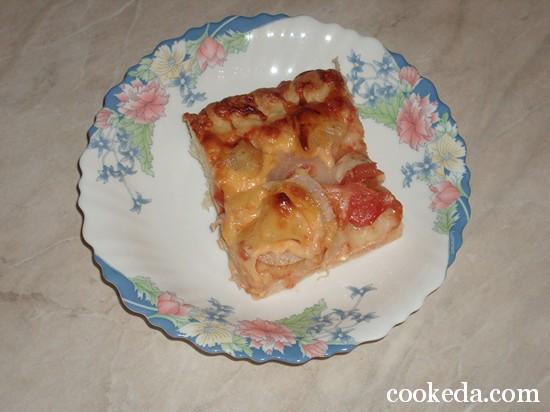 Пицца с курицей и ананасами фото-11