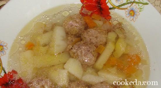 суп с фрикадельками фото-12