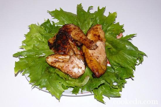 Домашний цыпленок на костре фото-08