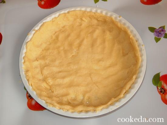 Песочный торт с желе и фруктами-07