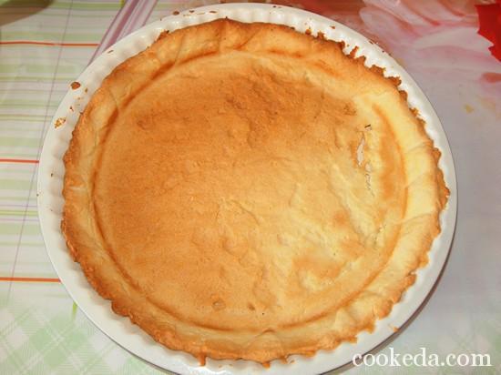 Песочный торт с желе и фруктами-18