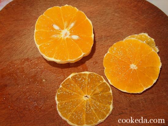 Песочный торт с желе и фруктами-21
