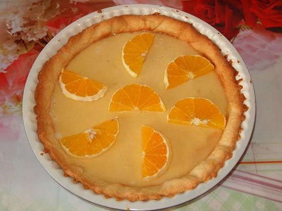 Песочный торт с желе и фруктами-28