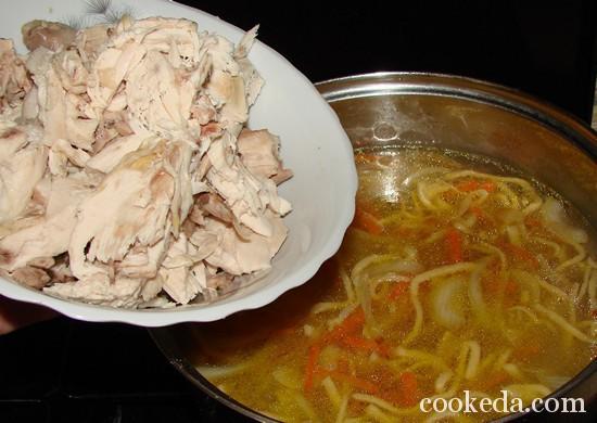 Суп с лапшой и курицей-16
