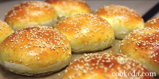 Рецепт булочек для бургеров фото-13