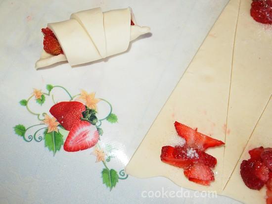 Рецепты круассанов с клубникой