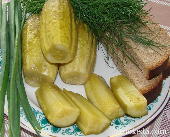 Рецепт малосольных огурцов фото-09
