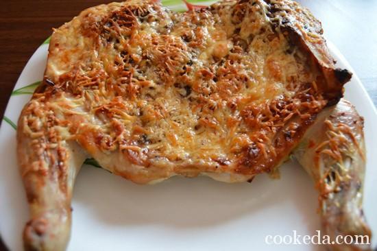 Как приготовить курицу под сыром-09