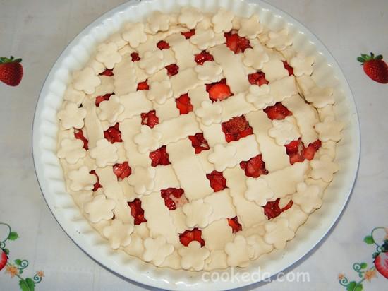 Слоеный пирог с клубникой фото-14