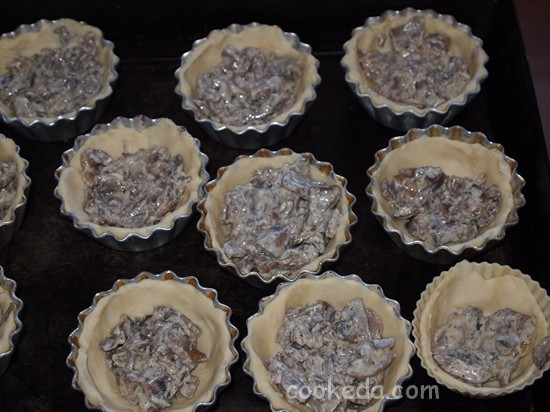 Корзинки с грибной начинкой-10