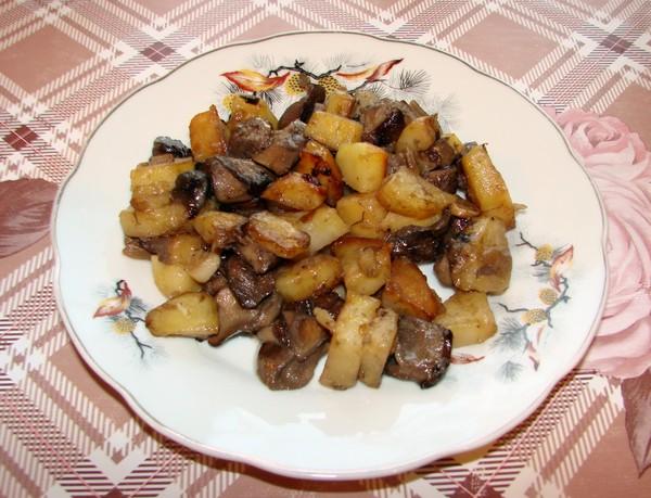 картошка жареная с подберезовиками рецепт с фото