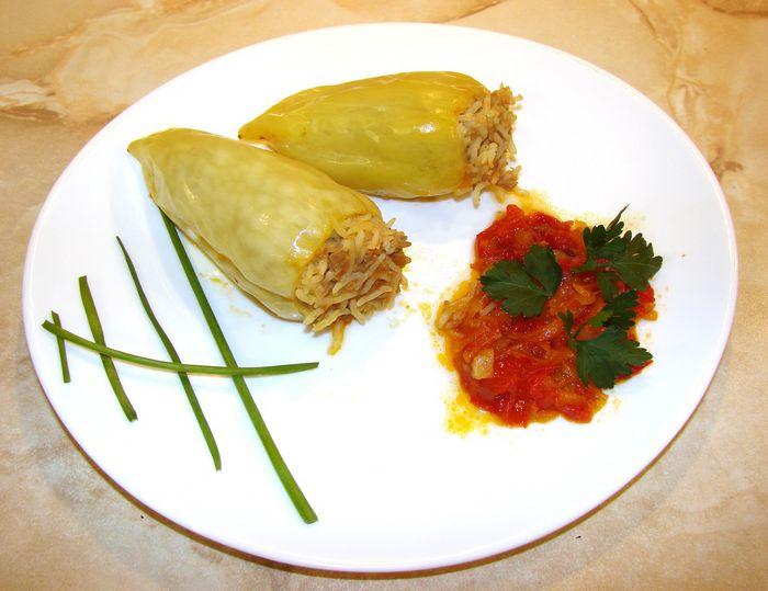 фаршированные перцы с фаршем и рисом пошаговый рецепт с фото в кастрюле