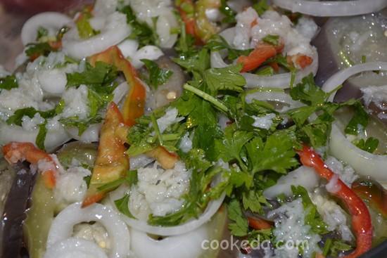 Салат с баклажанами-12