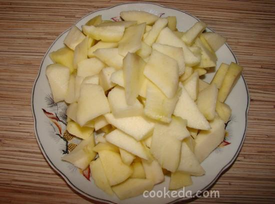 Творожно-яблочный пирог-07