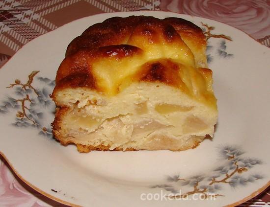 Творожно-яблочный пирог-12