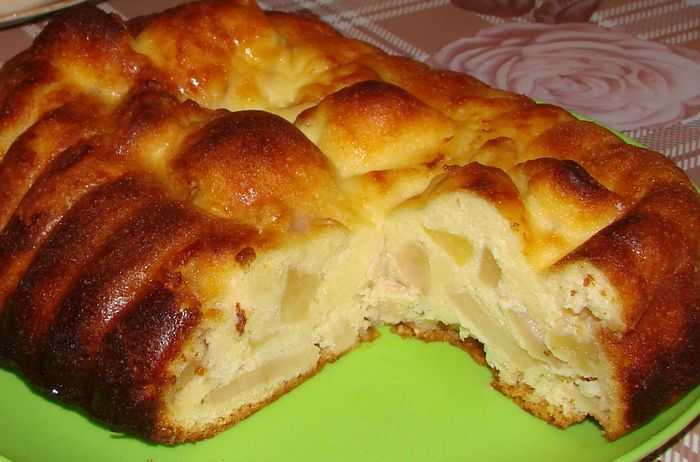 пирог из творога с яблоками в духовке