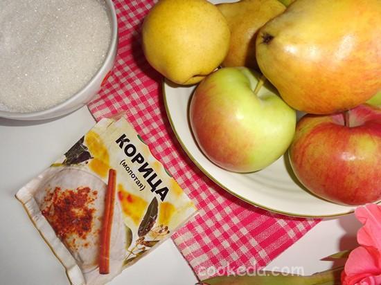 Яблочно-грушевое варенье с пряной корицей-03