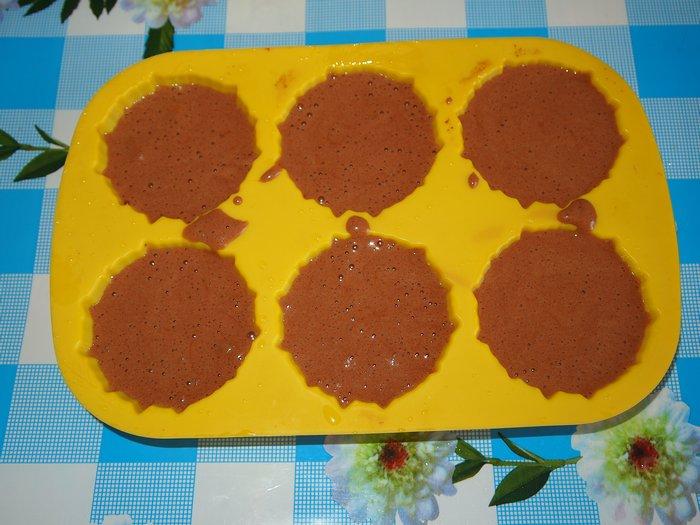 Шоколадные воздушные кексы без муки