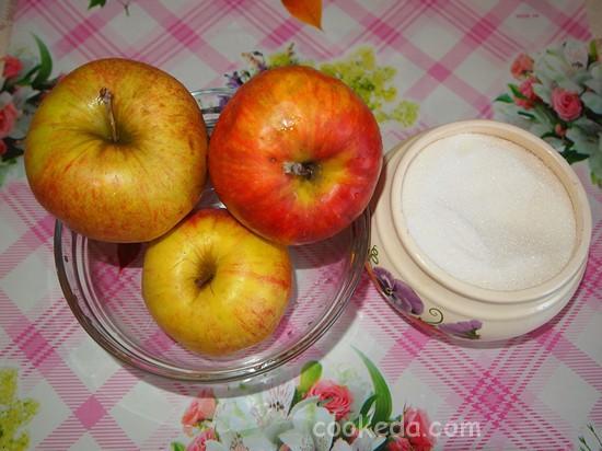 Дрожжевой пирог с яблоками-15