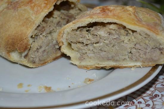 Пирог с мясом-12