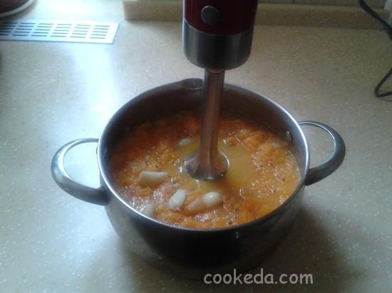 Суп-пюре из запеченных овощей-11