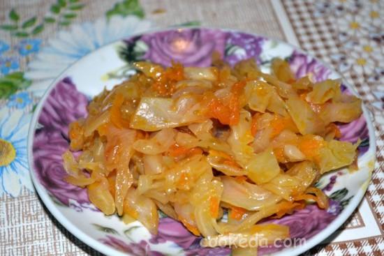 Рецепт тушеной капусты
