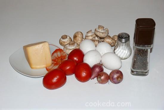 Грибной омлет с сыром-02