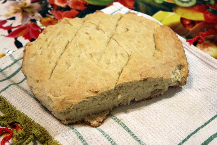 Пшеничный хлеб на кефире без дрожжей