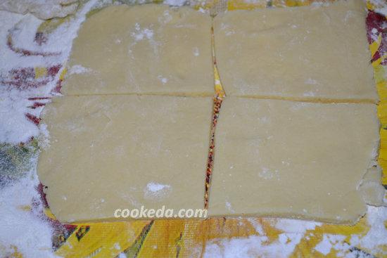 Печенье из слоеного теста с джемом-01