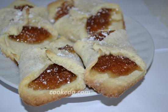 Печенье из слоеного теста с джемом-07