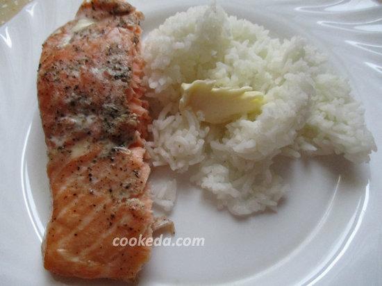 Филе лосося с рисом-14