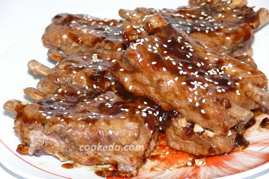 Свиные ребра в соевом соусе в духовке рецепт пошагово