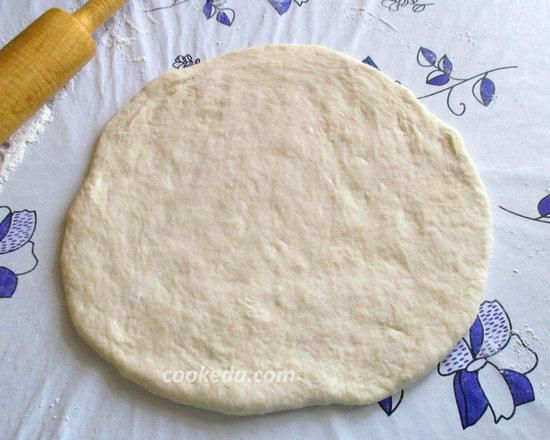 Пирог на кефире с рыбой и рисом-14