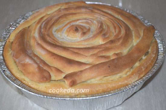 Пасхальный пирог из яблок-14